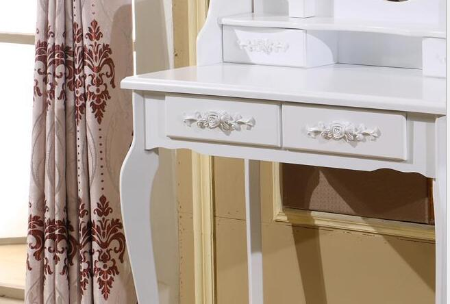 Wooden Dresser Makeup Set with 7 drawers , 3 mirrors , bedroom