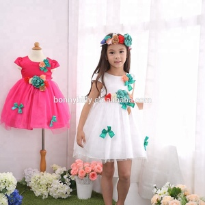 Young lady girls dresses fashion frocks design cutting / european kids clothes