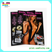 low cost sexy adult printing perfect binding softcove magazine