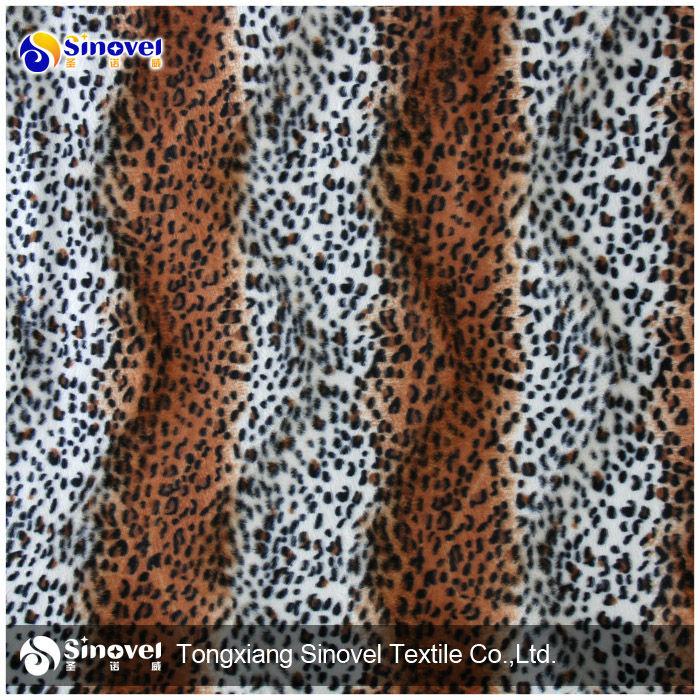Imprimé Animal Velours Tissu / Velours Tissu Pour Canapé / Velours