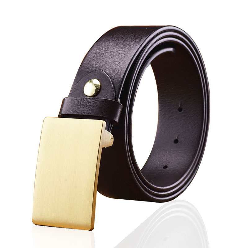 Mens fashion branded custom exotic private label leather belts with flat buckle