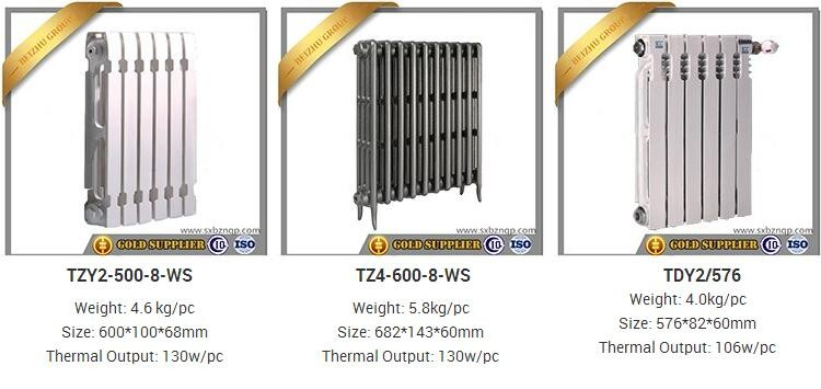 Beizhu Group produce cast iron panel radiators and bimetallic radiator heating for russia hvac die casting aluminum radiator