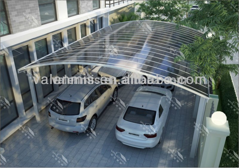 Sun shade d coratifs carport en aluminium double for Abri auto double costco
