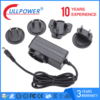 Ac Dc 24V 1000MA Interchangeable Plug power supplies 12V 2A Power Adapter for face cleaning machine