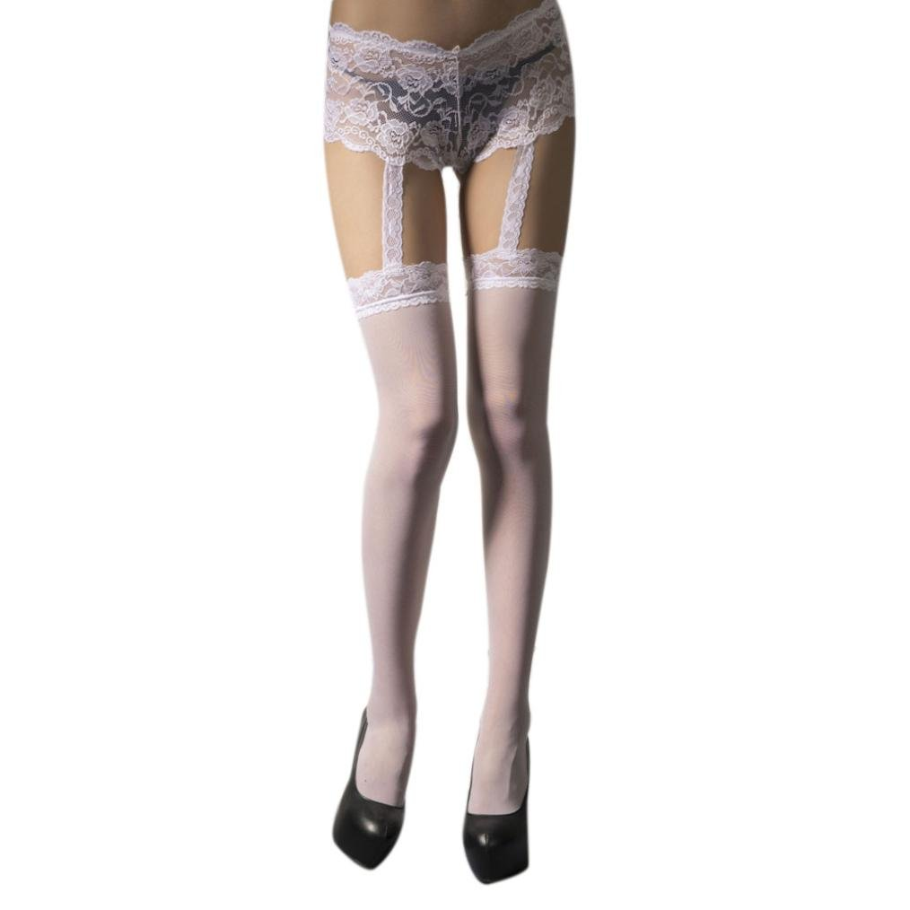 8ec899c9f Get Quotations · Stocking ,Beautyvan Comfortable Fashion White Net Stockings  Thigh High Stockings Lace Printing Body-Stocking