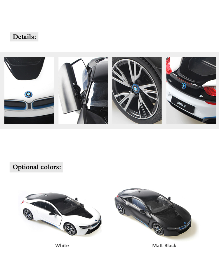Rastar BMW I8 model toy radio control opening door kids remote control car