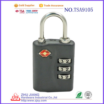 factory wholesale tsa combination zipper luggage padlock