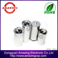 China Metallized Film AC Dual Motor Run Capacitor CBB65