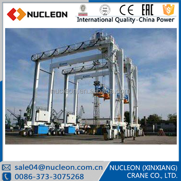 NUCLEON Joint Venture Company 40ton Rubber Tyre Container Gantry Crane