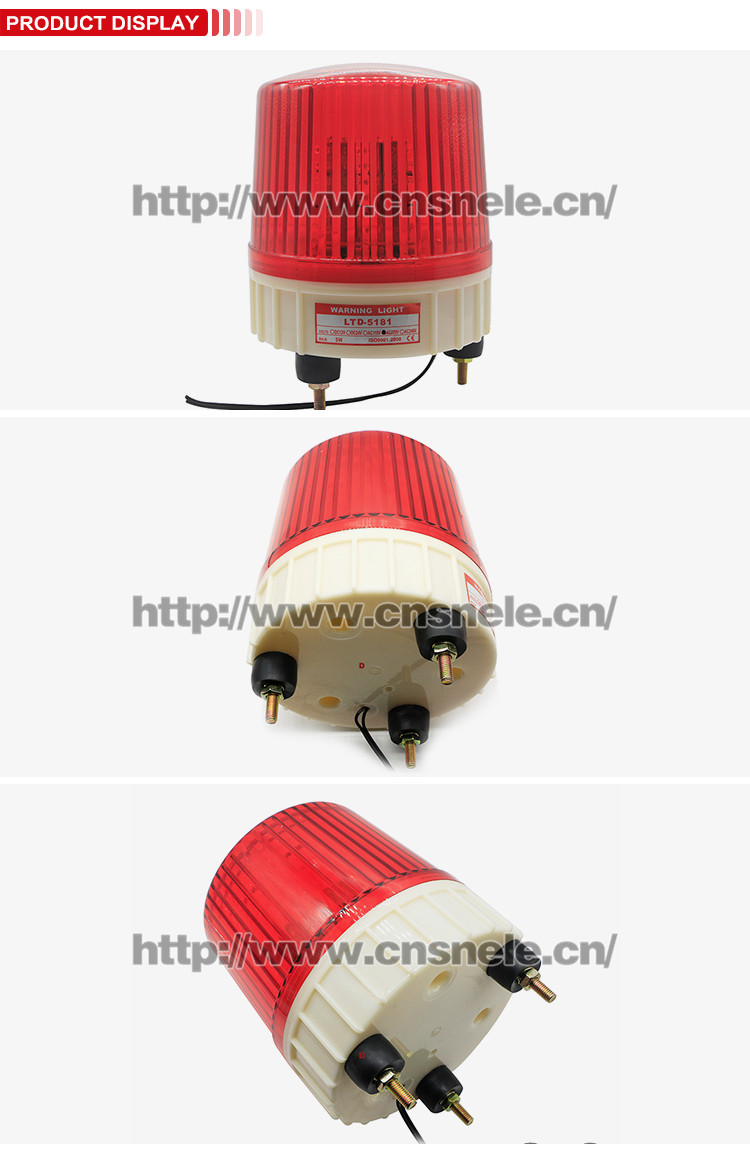 Lte 5181 Led Car Accessories 12v 24v 110v 220v Red Traffic Power Flashing Warning Light