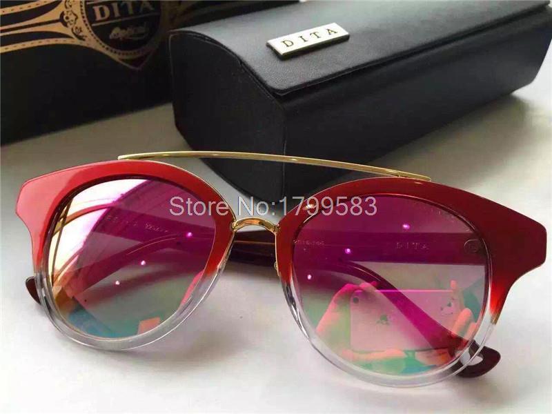 c49c2636a57 New DITA Sunglasses Dita Medina Women Brand Designer Cat Eyes Retro Vintage  Shiny Gold Summer Style Crystal Lens Color Films Cheap Eyeglasses Sunglasses  ...