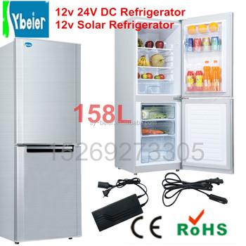 Bcd 158 12v 24v Solar Dc Refrigerator Combined Fridge Freezer 12v Upright  Refrigerator - Buy Solar Dc Refrigerator Fridge Freezer,12v Upright