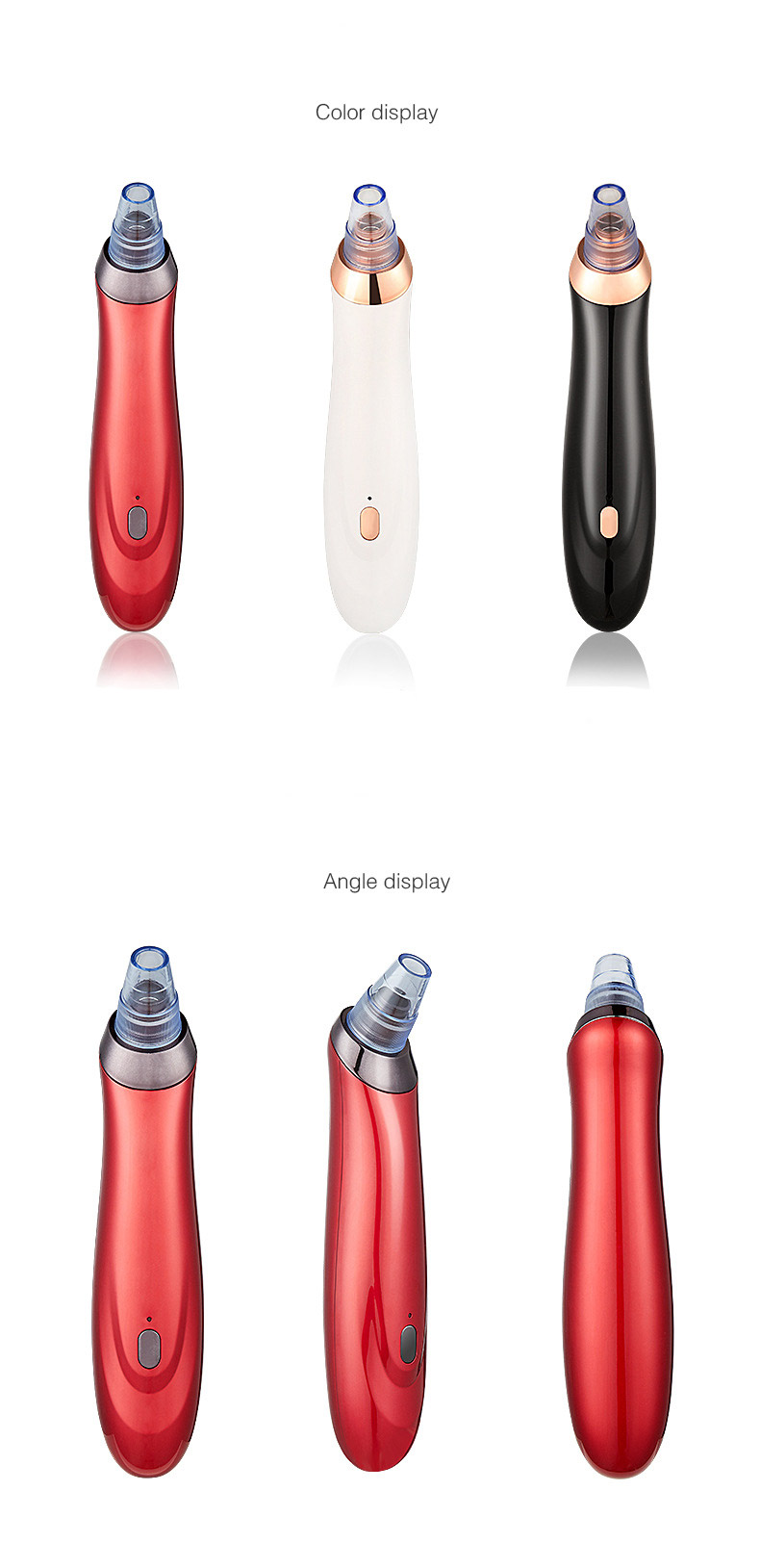 Home use facial pore blackhead removal machine comedo suction exfoliate Beauty black head cleaning equipment