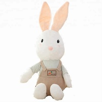 Plush Stuffed Doll Baby Rabbit Retro Style