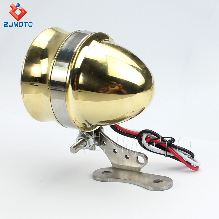 Zjmoto High Quality Brass Led Motorcycle Tail Light For