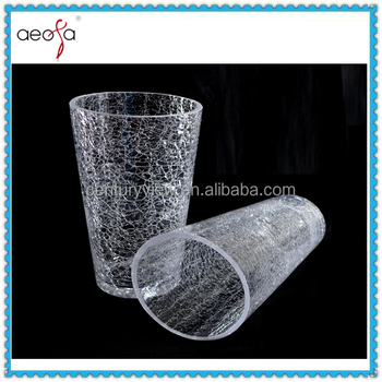 Wholesale Clear Round Crackle Glass Cheap Flower Vases Buy Cheap