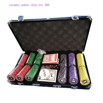 custom 10G ceramic poker chips set 500 300 200 for casino
