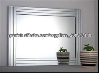 vidrio en el vidrio espejos de pared marco del espejo biselado espejos cm