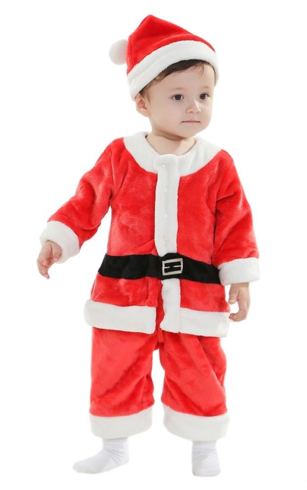3757267da Get Quotations · Xmas Christmas Santa Claus Costume Outfit for Toddler Boys  Kids Baby Children 2-4 Yrs