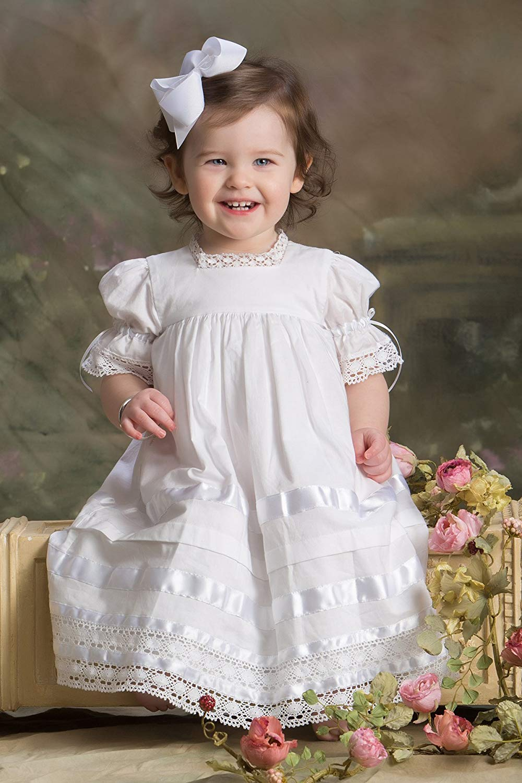 b08f3c6b8 Get Quotations · Girls Heirloom Baptism Dress Toddler and little Girls  Communion Dress Flower Girls