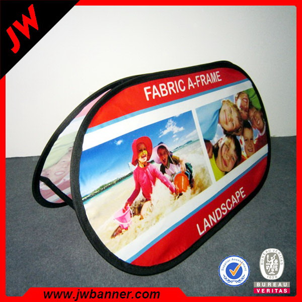 Portable a frame fabric popup displays