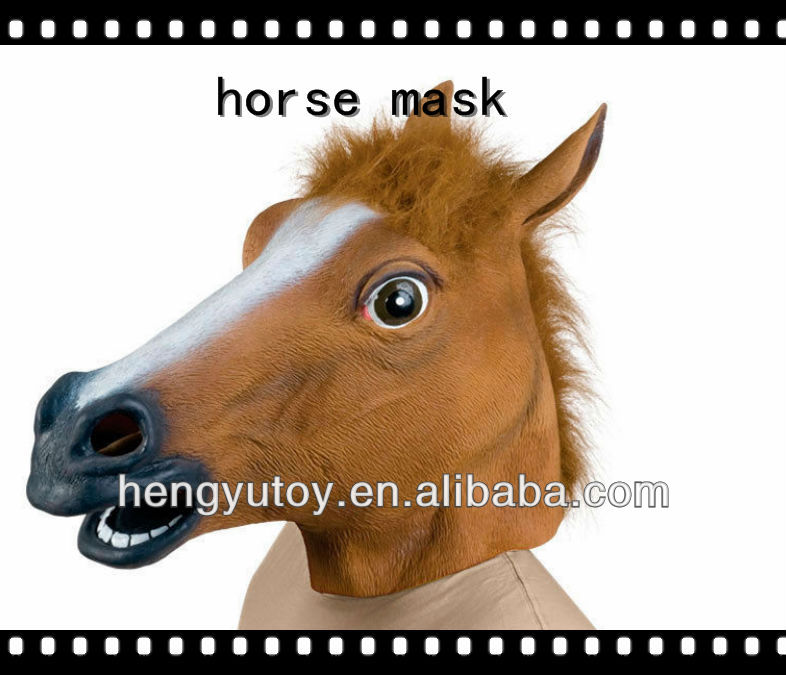 Hot selling Halloween party city disguises wholesale masquerade horse mask