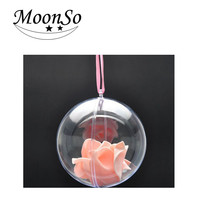 Christmas decor 4~20cm ball candy box of transparent plastic sphere Christmas ball Christmas products Moonso A4659