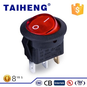 Easy to use TH17 waterproof red head spdt switch with lndicator Lamp