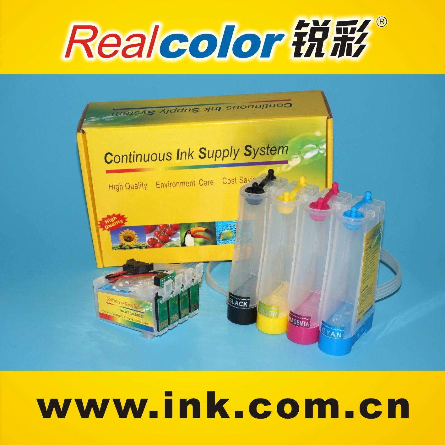 hot selling continuous ink system for Epson ME-101 me101 me10 ciss ink cartridge T1661-T1664