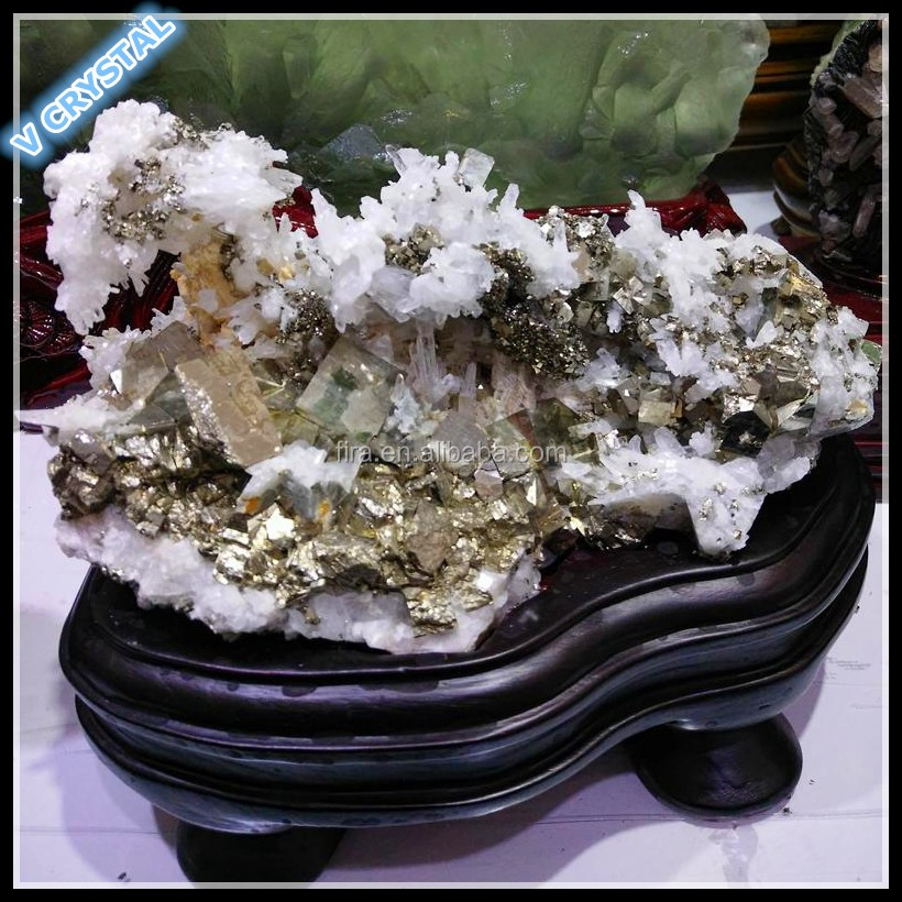 Decorative Pyrite Ore Wholesale Natural Pyrite WITH Crystal Mineral Pyrite For Gift
