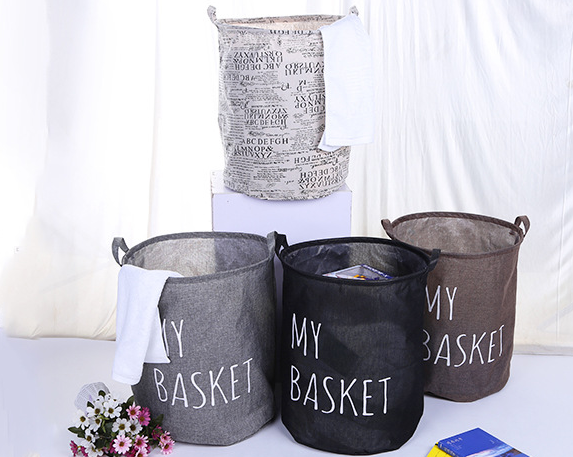 Home Storage Wholesale Waterproof Folding 600D Polyester Oxford Laundry Basket Hamper Foldable Laundry Bag