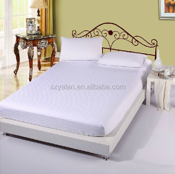 100% Cotton Single Hotel Elastic Bed Fitted Sheets/bed Sheets