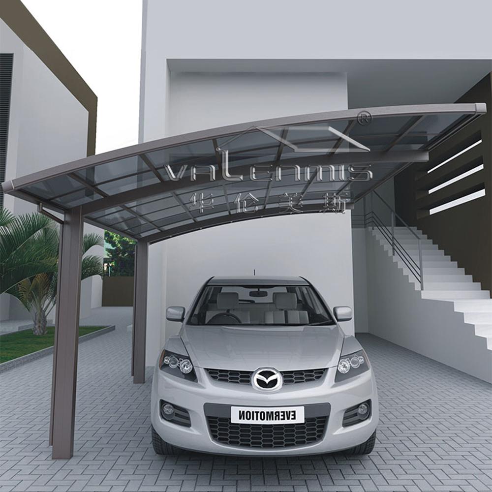 Alluminio auto parcheggio riparo con copertura in for Piani garage separati con posto auto coperto