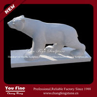 hand carved stone animal life size bear animal garden animal statues