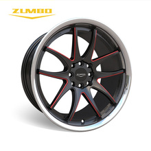 "ZUMBO S0048 Black milled/red+lip machined colorful aluminum wheel rim 17"" Wheeler Truck Tires Autos Alloys Wheels In Bangkok"