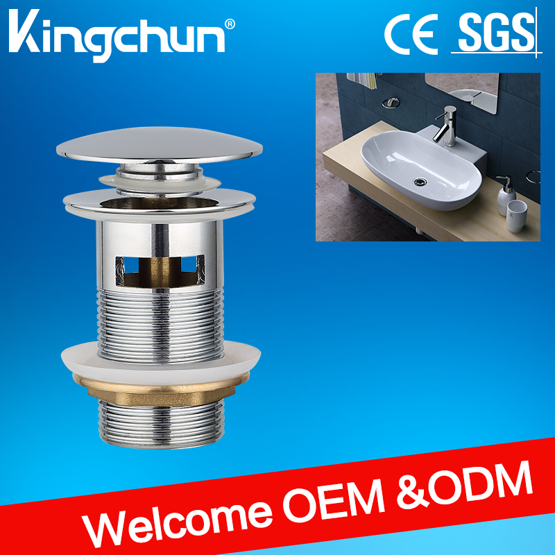 Kingchun bathroom accessories zinc alloy click clack basi drain waste zinc alloy