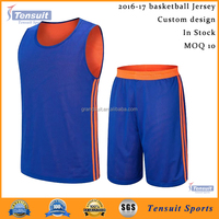 2016 latest basketball jersey design soft mesh custom design basketball uniform best quality for wholesale