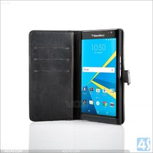 For blackberry priv wallet case cover with card holders, premium leather phone wallet case for blackberry priv 2015