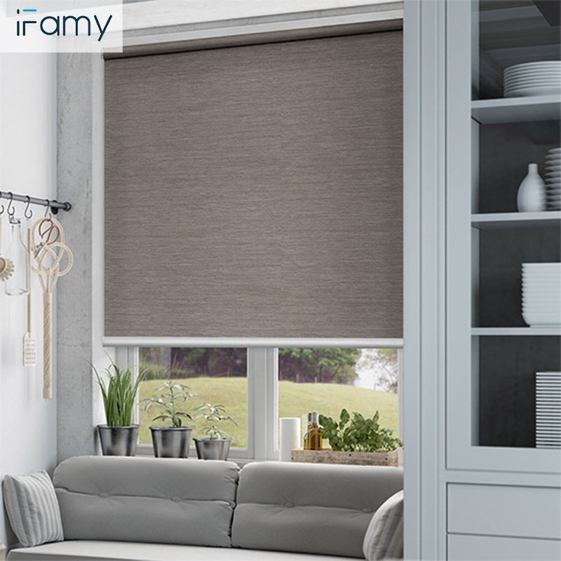 Anti UV window blinds polyester roller blind blackout fabric