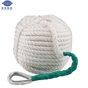 China 112mm Double- Braided Nylon/PE/PP/UHMWPE Floating Mooring Rope