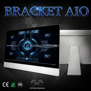International product gtx 1070 fanless 23.6 inch bracket AIO computer with WIFI and CPU 2.0GHz J1900