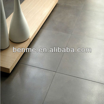 600x600 Non Slip Grey Floor Tile Cement Look Matte Finished
