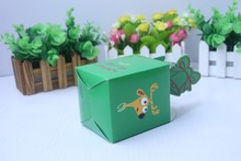 Green Christmas bell shape paper packaging box for candy/apple/gift packaging