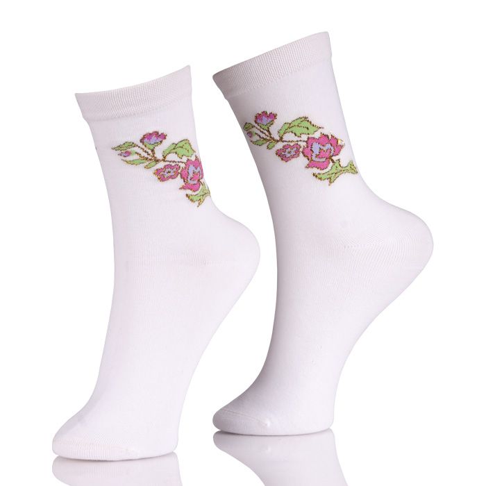 Womens Dress Crew Socks Sale With Embroidery