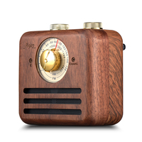 top quality wood AM FM radio with wireless speaker