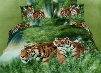 100% cotton 3D animal printed bedding set/animal design bedding sets