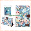 Luxury Flowers Cloth Wallet Flip PU Leather Case For iPad mini 4