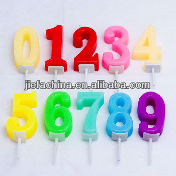 2013 decorative colorful number party candles