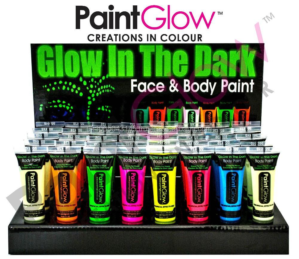die im dunkeln leuchten k rper malt 6 neonfarben und 1. Black Bedroom Furniture Sets. Home Design Ideas