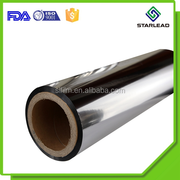 Quality manufacturer brush foil metalized film MPET mylar roll